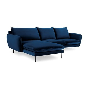 Colțar cu șezlong pe partea stângă Cosmopolitan Design Vienna, albastru de la Cosmopolitan Design