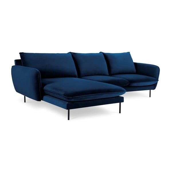 Modrá rohová pohovka Cosmopolitan Design Vienna, levý roh