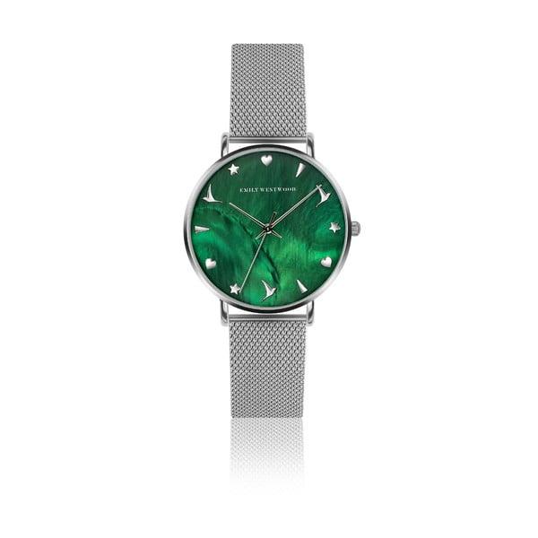 Dámske hodinky s remienkom z antikoro ocele v striebornej farbe Emily Westwood Grace
