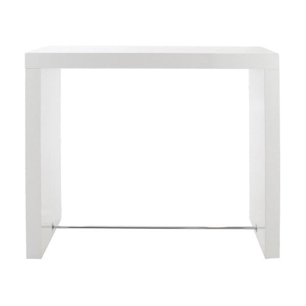 Bílý barový stolek Actona Block