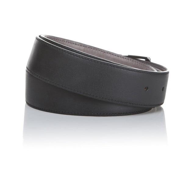 Kožený pásek Black Grey, 130 cm