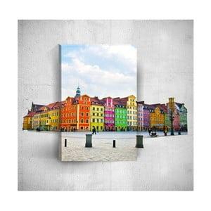 Nástěnný 3D obraz Mosticx Colourful Buildings, 40 x 60 cm