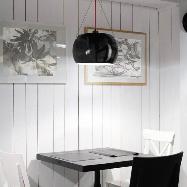 Černostříbrné dvojité matné závěsné svítidlo Sotto Luce MOMO