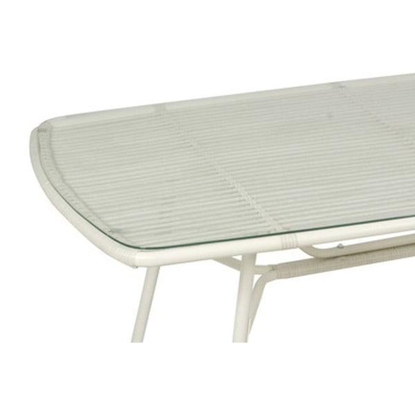 Stůl Alum White, 77x160x90 cm