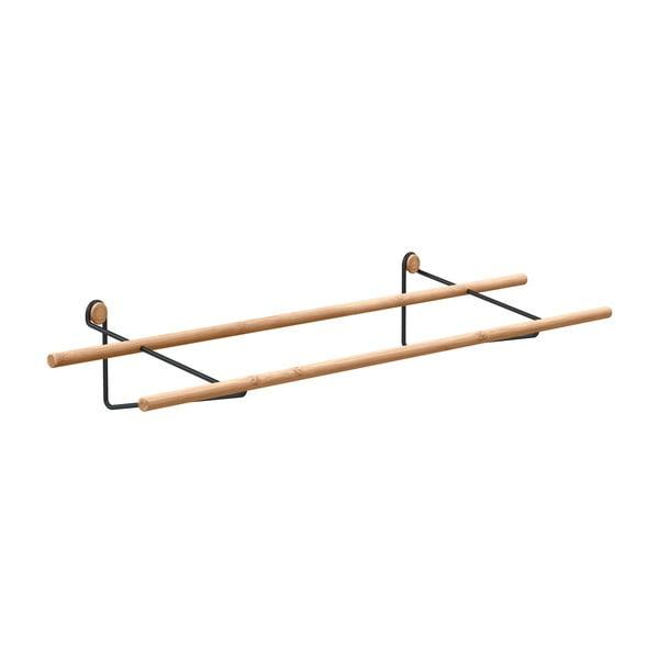 Raft din bambus pentru pantofi, de perete We Do Wood, maro-negru