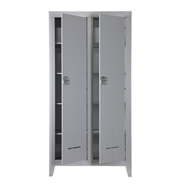 Dvoukřídlá skříň Kluis, šedá