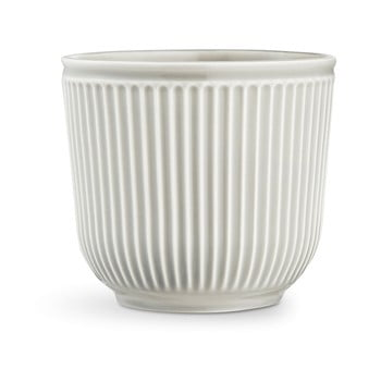 Ghiveci din ceramică Kähler Design Hammershoi Flowerpot, ⌀ 18 cm, gri deschis