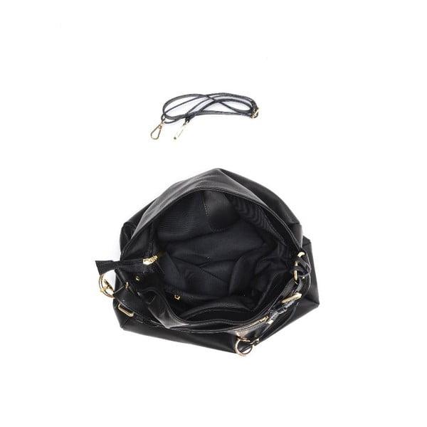 Kožená kabelka Carla Ferreri 2087 Nero