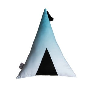 Bílomodrý polštář VIGVAM Design Ombré