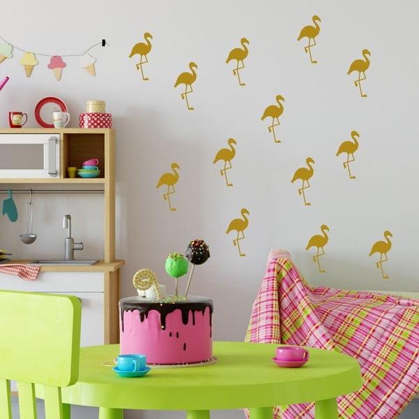 Flamingo citromsárga öntapadós falmatrica szett - North Carolina Scandinavian Home Decors