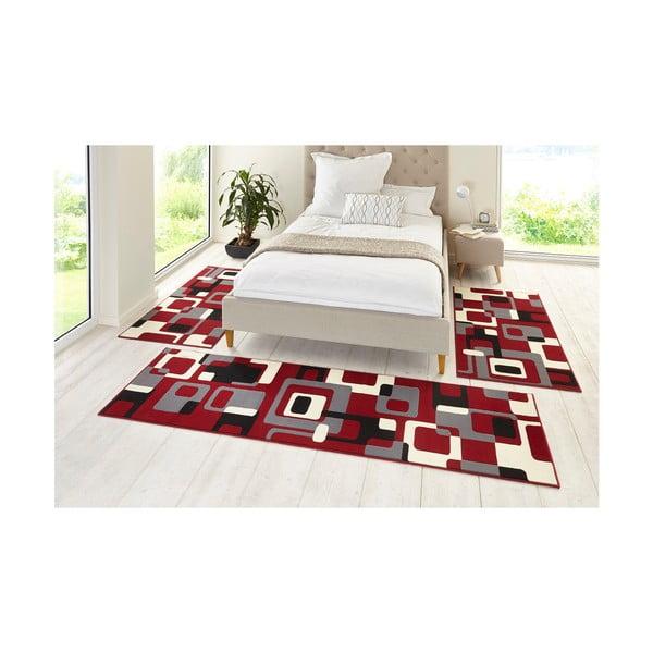 Červený koberec Hanse Home Hamla Retro, 80x300cm