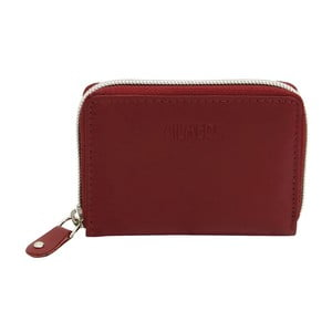 Tmavě červené kožené pouzdro na kreditní karty Friedrich Lederwaren