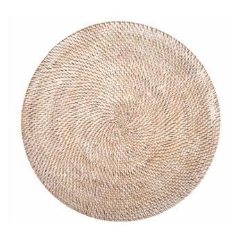Suport din ratan pentru farfurie Tiseco Home Studio, ⌀36cm, alb imagine