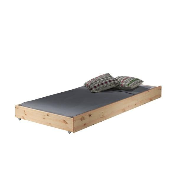 Naturalne wysuwane łóżko Vipack Pino, 90x195 cm