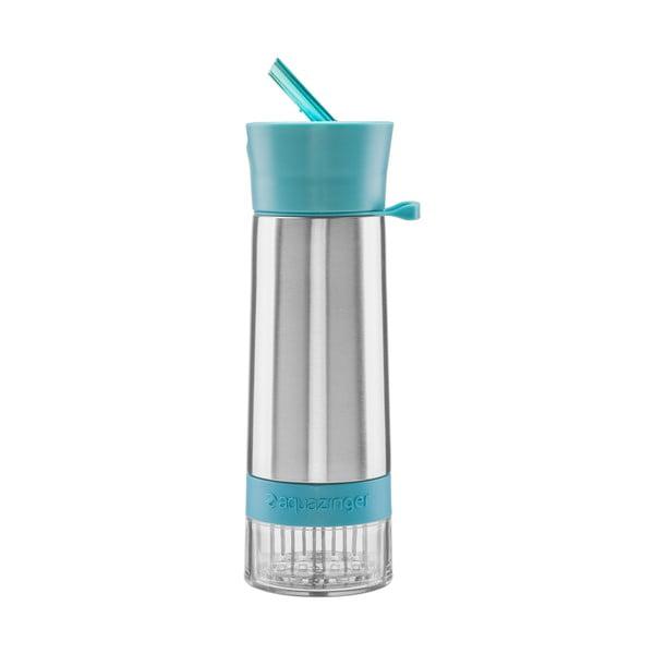 Modrá láhev na vodu a ovoce Aquazinger