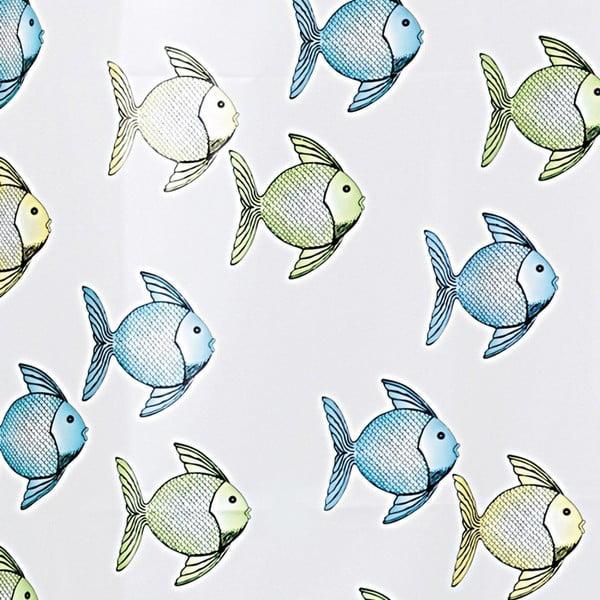 Sprchový závěs InterDesign Fishy, 180x200cm
