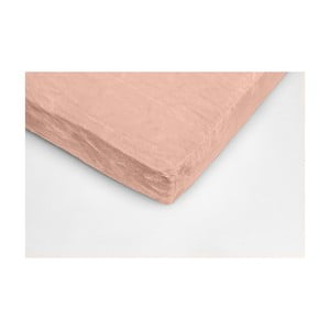 Cearceaf din micropluș My House, 180 x 200 cm, roz somon