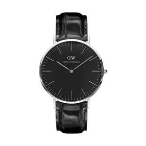 Černé unisex hodinky DanielWellingtonReadingSilver, ⌀40mm