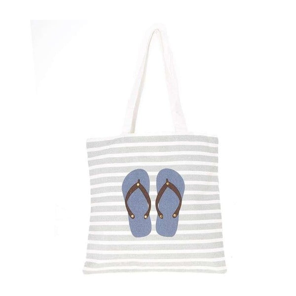 Plážová plátěná taška Blue Flip Flops