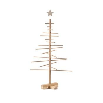 Brad din lemn pentru Crăciun Nature Home Xmas Decorative Tree, înălțime 75 cm imagine