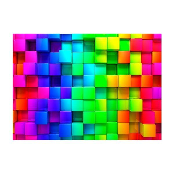 Tapet format mare Bimago Cubes, 400 x 280 cm
