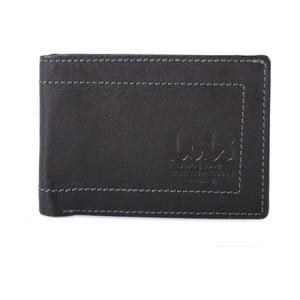 Kožená peněženka Lois Black, 10x7 cm
