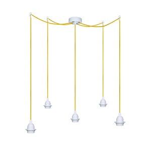 Pět závěsných kabelů Uno+, žlutá/bílá