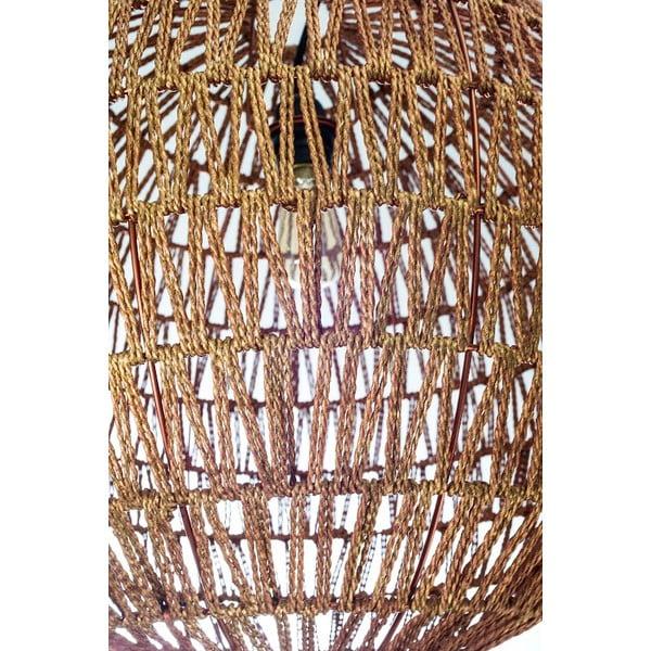 Závěsný lustr Fisura Hive Copper, 50 cm