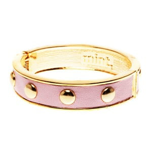 Náramek Round stud gold, pink