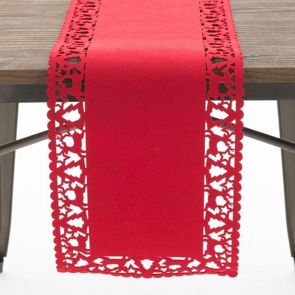 Běhoun Felt Xmas Red, 30x120 cm