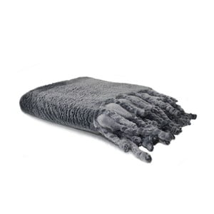 Šedá deka Domarex Tassel, 130x160 cm