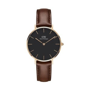 Dámské hodinky s hnědým páskem hodinky Daniel Wellington St. Mawes Dark, ⌀32mm