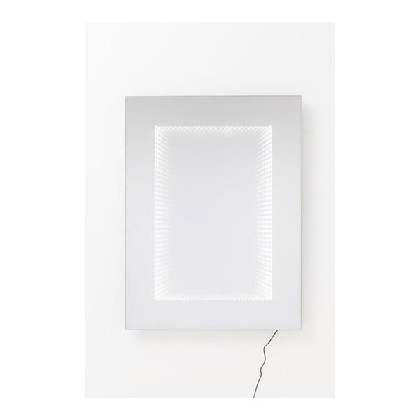 Nástěnné zrcadlo s LED světly Kare Design Infinity, 120x80cm