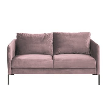 Canapea cu 2 locuri Actona Kingsley, roz pudră
