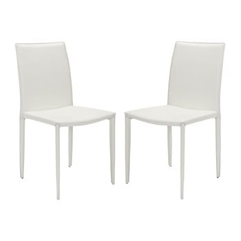 Set 2 scaune Safavieh Caleb White