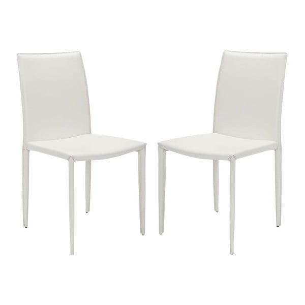 Set 2 židlí Safavieh Caleb White