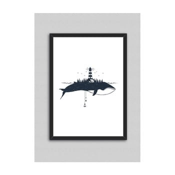 Tablou North Carolina Scandinavian Home Decors Whale, 33 x 43 cm de la North Carolina Scandinavian Home Decors