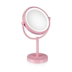 Zrcadlo s osvětlením Markslöjd Make-up, růžové