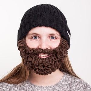 Căciulă cu barbă, pentru copii, Beardo Kids Thick, negru-maro