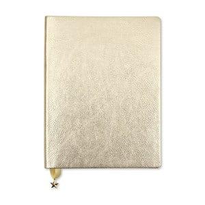 Zápisník ve světle zlaté barvě GO Stationery All That Glitters Metalic