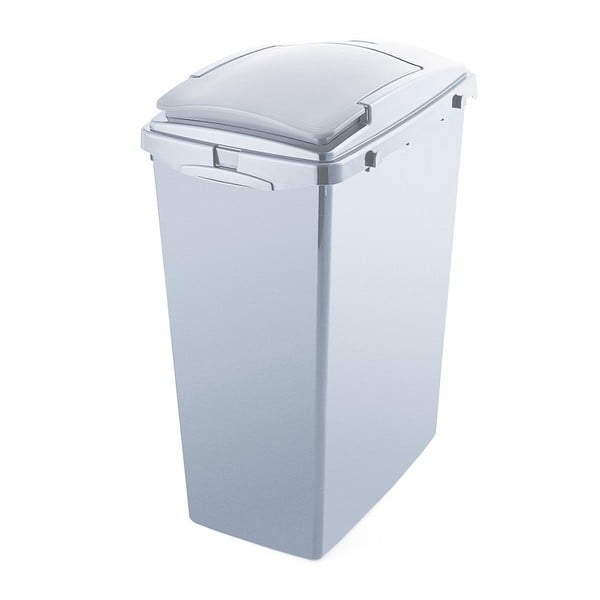 Sivý odpadkový kôš z recyklovaného plastu Addis Eco Range, 40 l