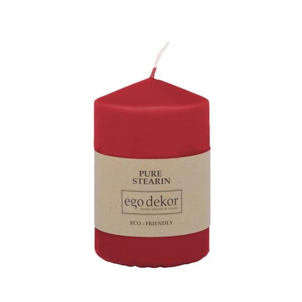Lumânare Baltic Candles Eco Top, înălțime 10 cm, roșu