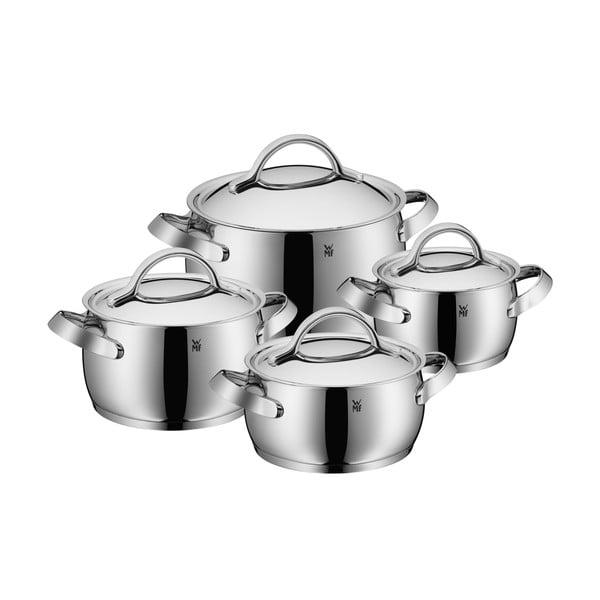Set 4 oale din oțel inoxidabil cu capac WMF Cromargan® Concento