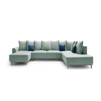 Canapea cu șezlong pe partea stângă Bobochic Mola verde