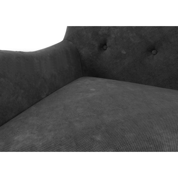Tmavě šedá pohovka pro dva Wintech Zefir