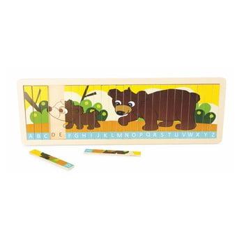Joc educativ din lemn cu alfabetul Legler Family of Bears de la Legler