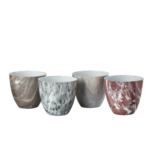 Sada 4 porcelánových svícnů pols potten Marble