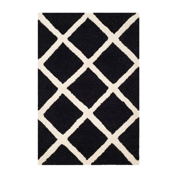 Vlněný koberec Safavieh Sophie Black, 91 x 152 cm