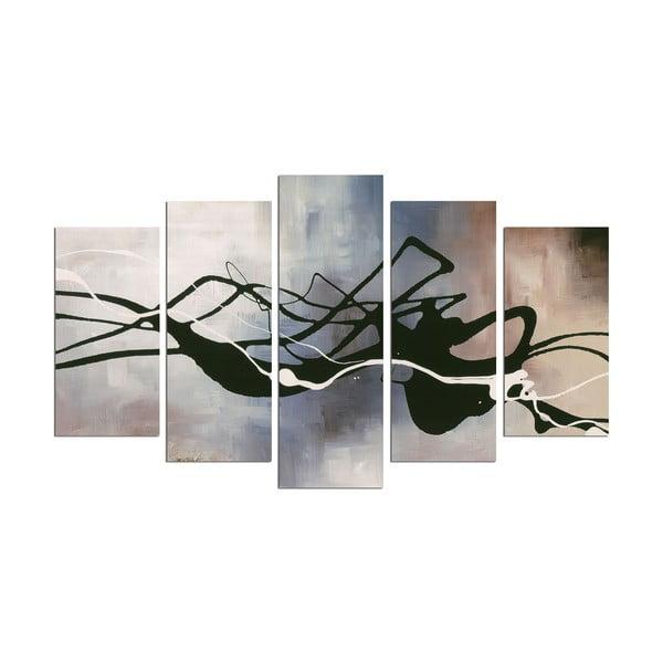 Tablou din mai multe piese Black Lines, 110 x 60 cm