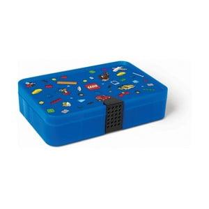 Modrý úložný box s přihrádkami LEGO® Iconic